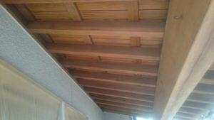 木製軒天井 塗装