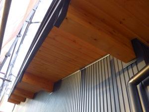 木製天井 塗装 完了