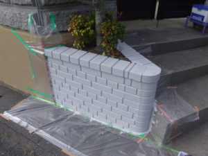 ブロック 目地色塗装