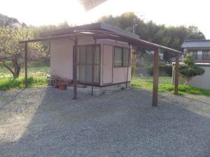 小屋 塗装完了