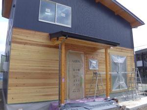 木製サイディング塗装前