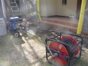 高圧洗浄使用機械